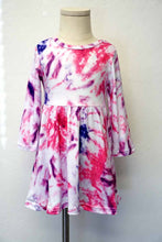 Load image into Gallery viewer, Pink Twirl Tie Dye Dress - Kids