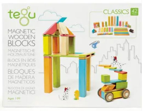 Tegu 42 Piece Magnetic Wooden Block Set