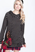 Load image into Gallery viewer, Checkered Inner Hood Striped Hoody