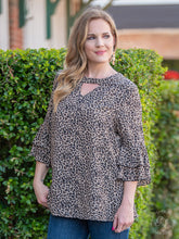 Load image into Gallery viewer, Check Meowt Leopard Blouse