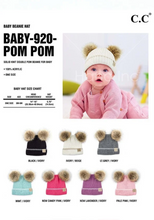 Load image into Gallery viewer, CC Beanie *BABY* Cross 2 Fur Pom  **PRE_ORDER**