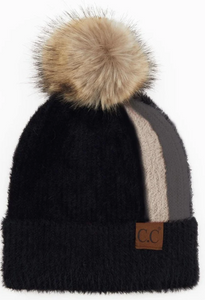 CC Beanie *ADULT* Color-Block with Pom **PRE_ORDER**