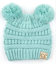 Load image into Gallery viewer, CC Beanie *BABY* 2 Pom Classics  **PRE_ORDER**