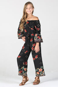 Floral Night Jumpsuit Kids