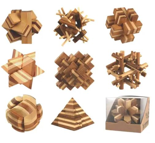 3D Bamboo Puzzles