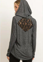 Load image into Gallery viewer, Lace Inset Long Sleeve Hoodie