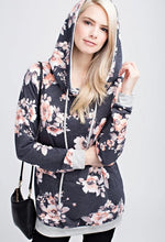 Load image into Gallery viewer, Blooming Floral Navy Hoody Women's (Mommy & Me Style)