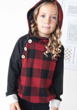 Load image into Gallery viewer, Kid's Buffalo Plaid Hoody