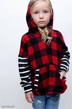 Load image into Gallery viewer, Buffalo & Stripe Print Kid's Hoody