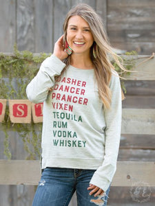 Dasher Dancer Prancer Vixen Women's Long Sleeve
