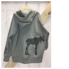 D. Moose Kid's PO Hoody Grey