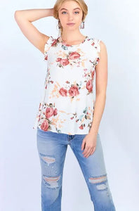 Floral Ruffle Sleeve Women's Tank (Comes in Mommy & Me)