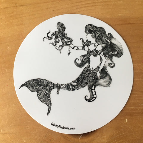 Mermaid with an Octopus Sticker