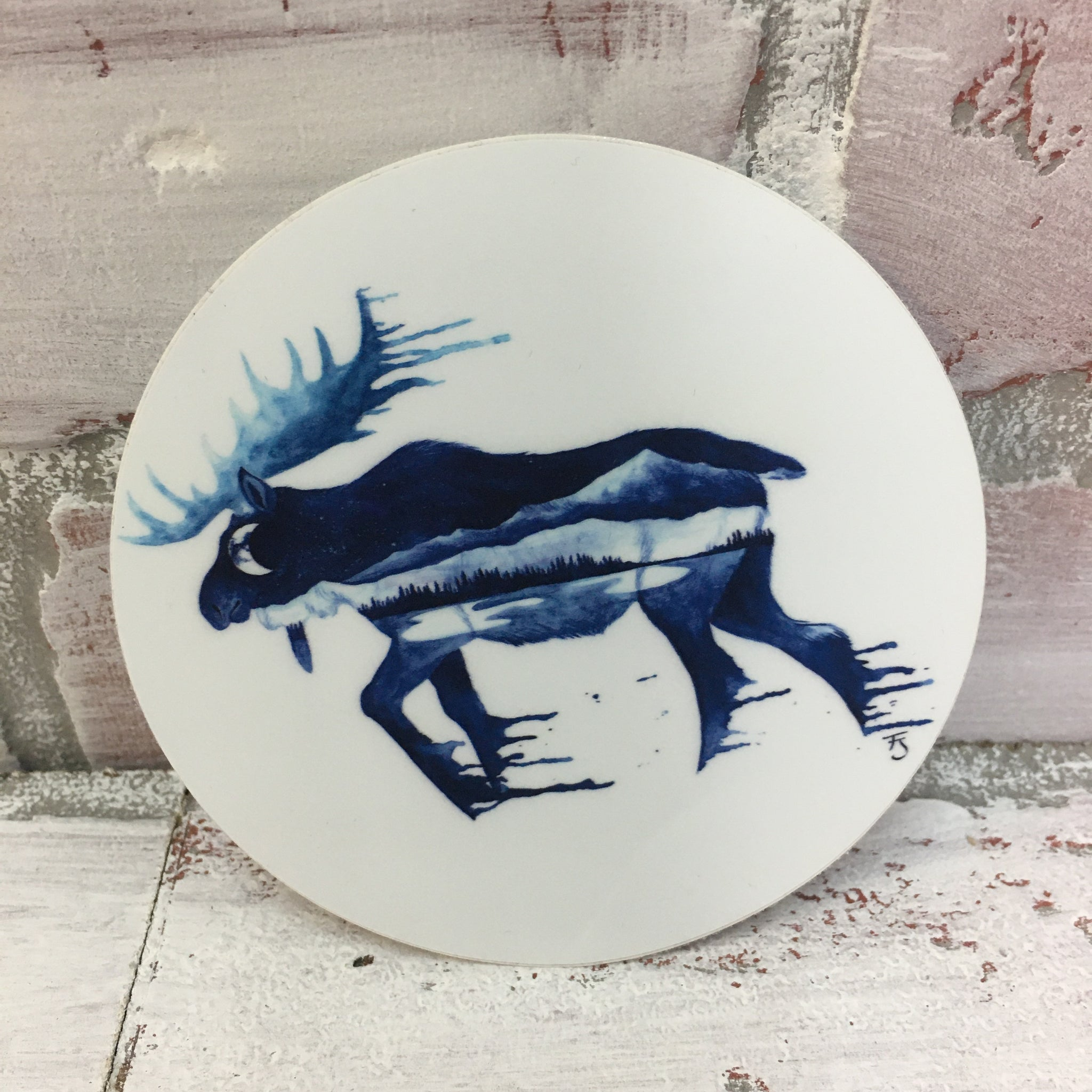 Alaskan Blue Moose Sticker