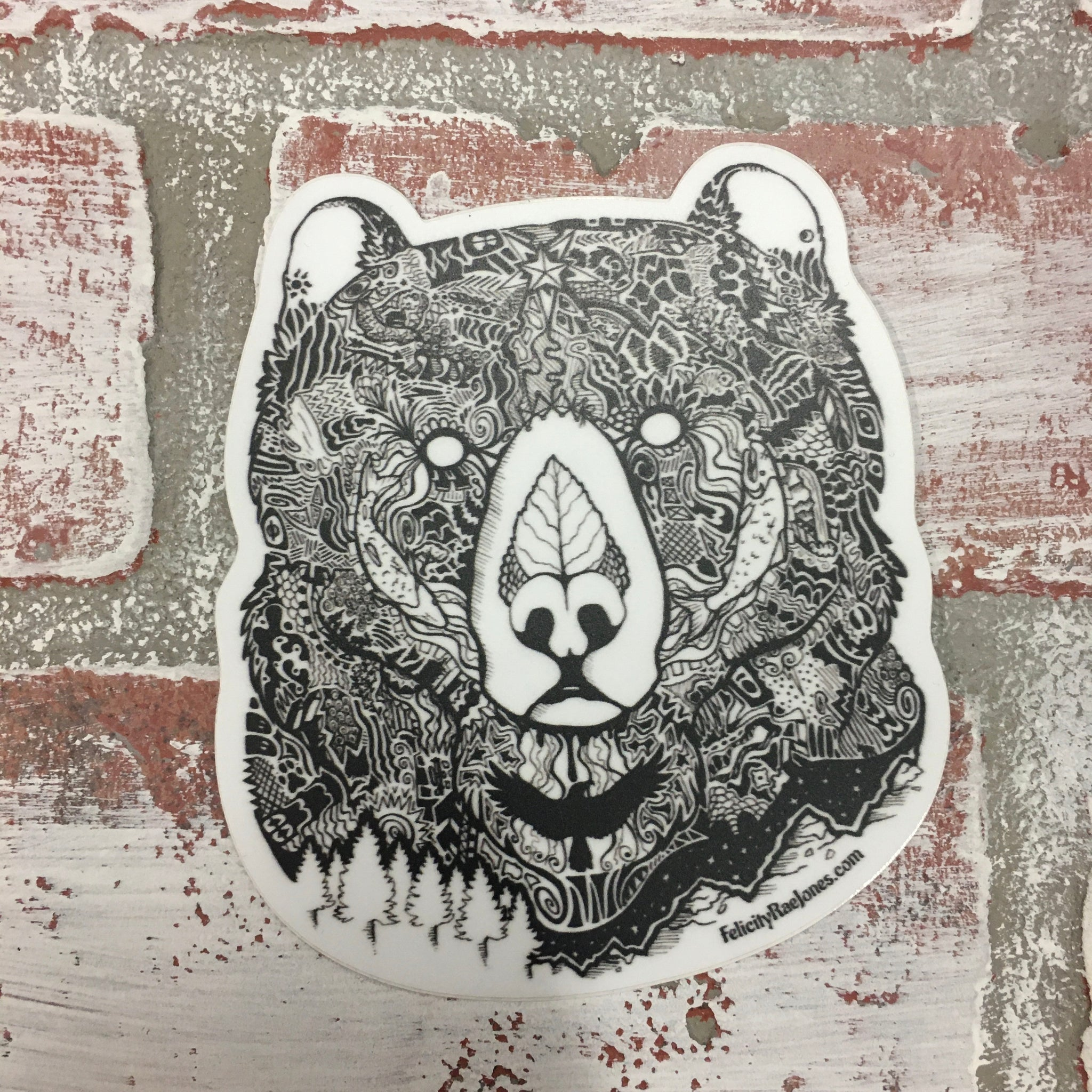 Wild Alaskan Grizzly Bear Sticker