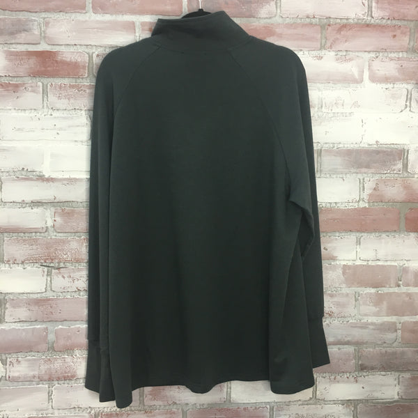 Buttoned Side Pullover Grey