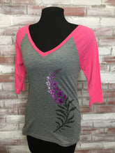 Load image into Gallery viewer, D Fireweed Contrast 3/4 SLeeve