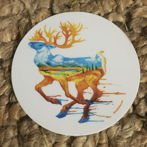 Fall Caribou Sticker