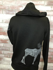 Moose Grey on Black WP Jacket