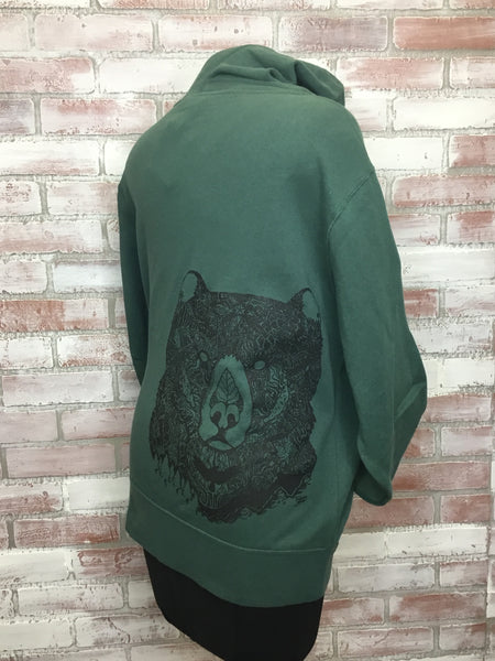Wild Grizzly Bear Unisex Zip Hoody