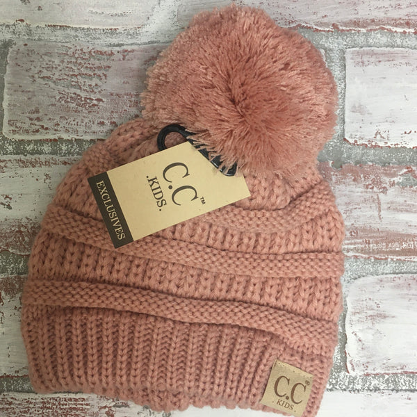Fancy Pom Pom CC Beanie - Kids