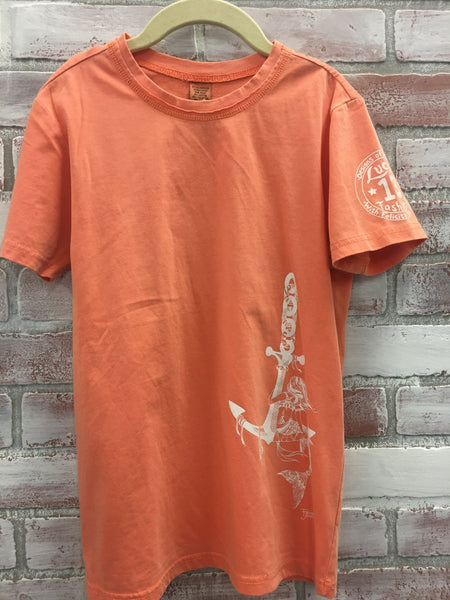 DayDreamer Mermaid Kids Pigment Tee Tangerine