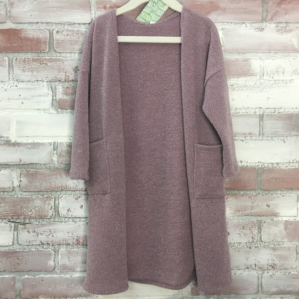 GG Lavender Knit Cardigan - Kids