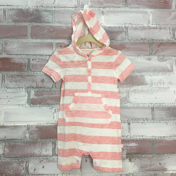 Striped Hoody Baby Romper