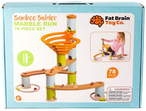 Bamboo Marble Run Set