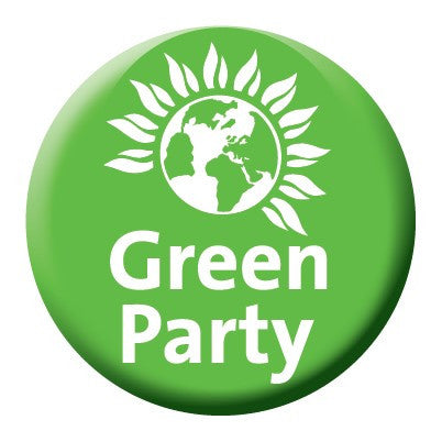 45mm Green Party Badge