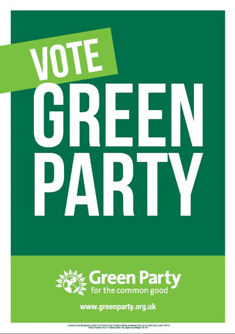 10 x A3 Vote Green Party Poster
