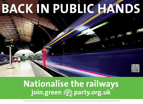 "A4 ""Nationalise the Railways"" Poster"