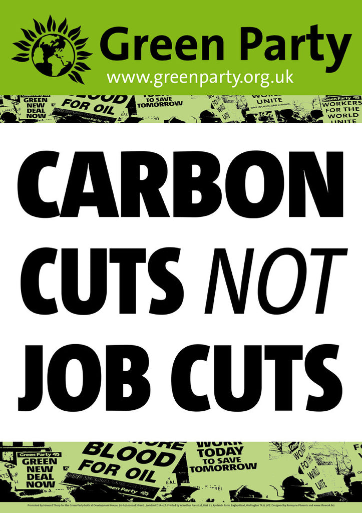 4 A2 Carbon Cuts NOT Job Cuts Placards/Posters