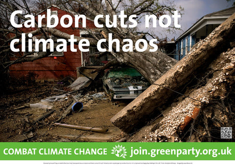"10 x A3 ""Carbon Cuts Not Climate Chaos"" posters"
