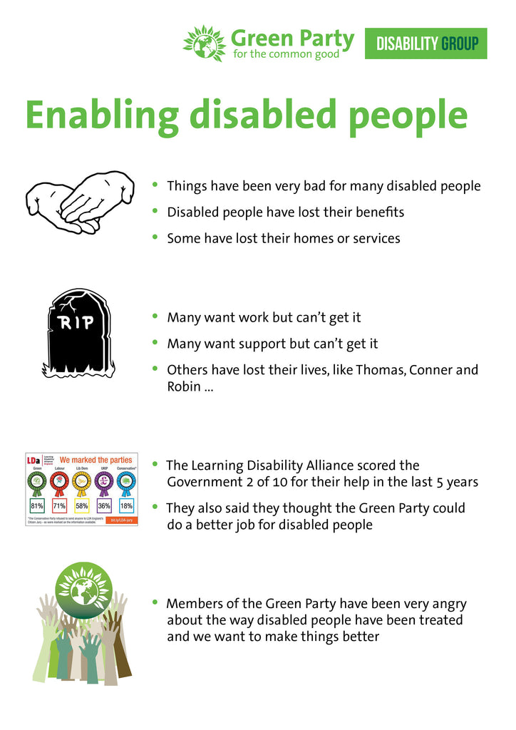 50 x A4 Easy Read  – Enabling Disabled People Leaflet