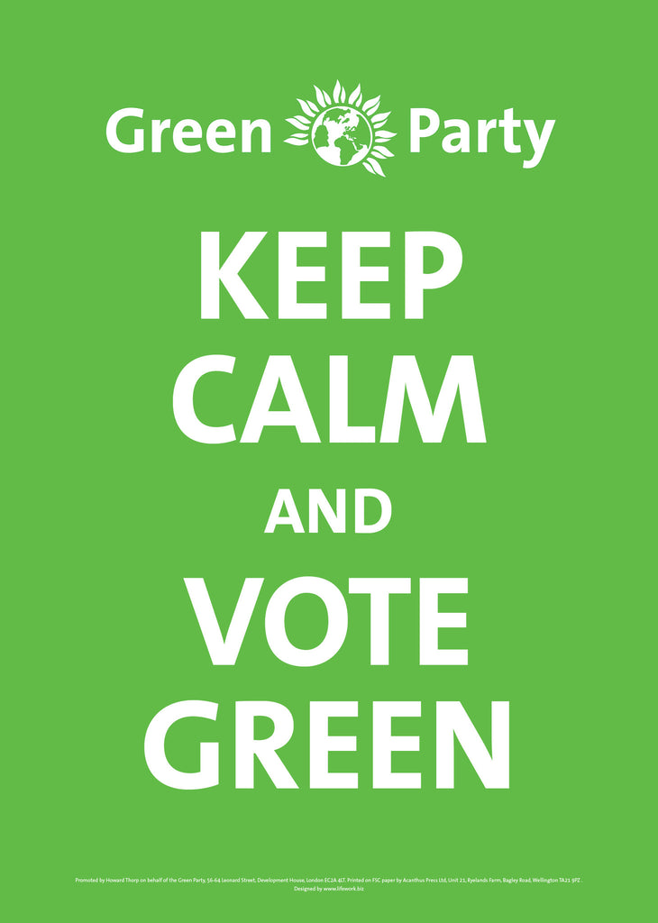 A4 Keep Calm and Vote Green Posters