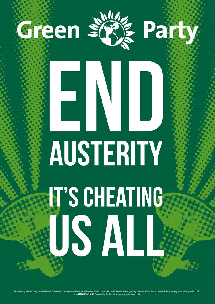 4 x A2 End Austerity Placard/Poster