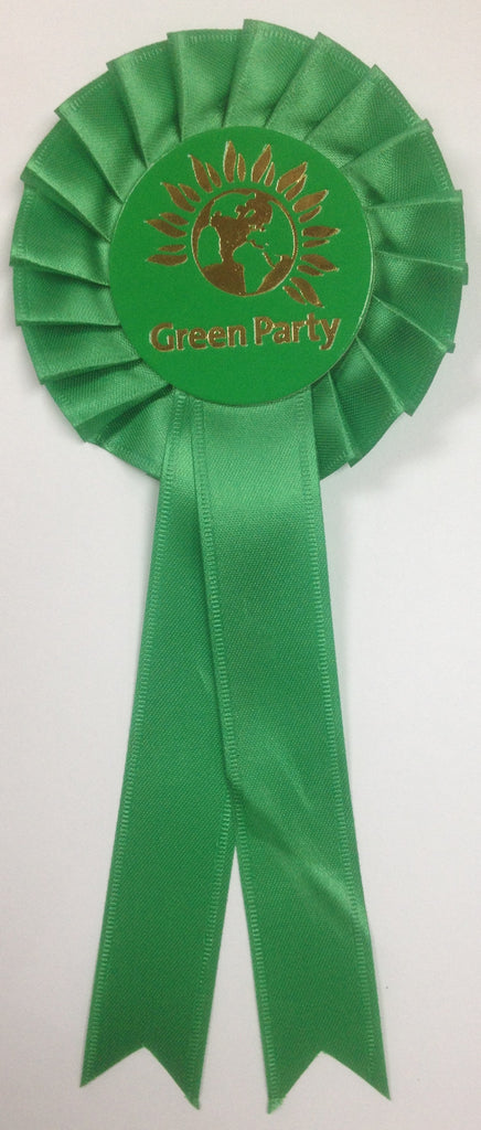 Green Party Rosette (English only)