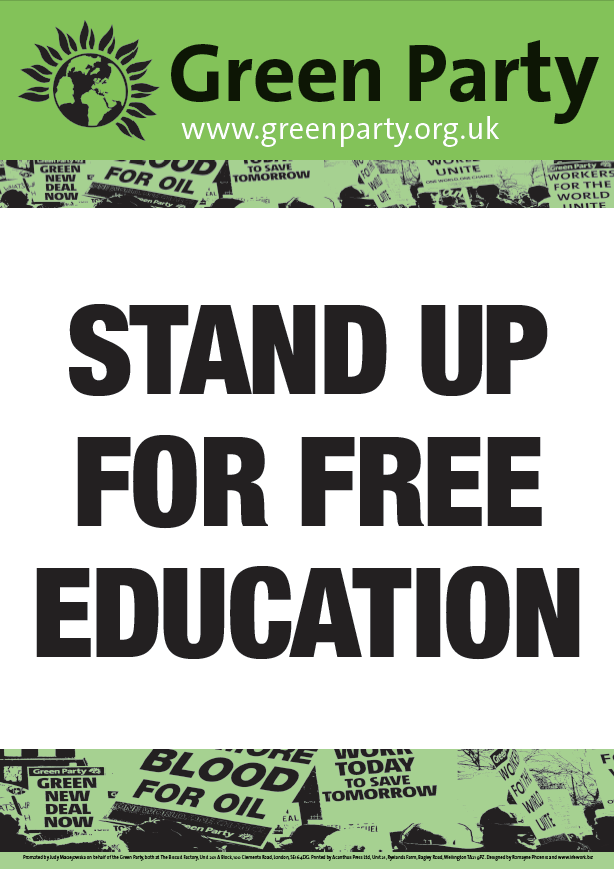 4 A2 Free Education Placards/Posters