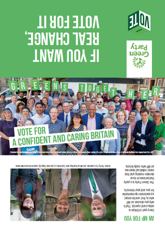 1000 x DL Generic Green Party Leaflet