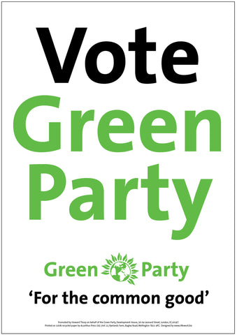 A4 Vote Green Party (For the Common Good) Poster
