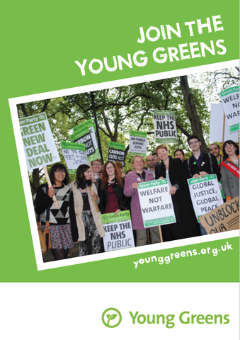 50 x Join the Young Greens Leaflet