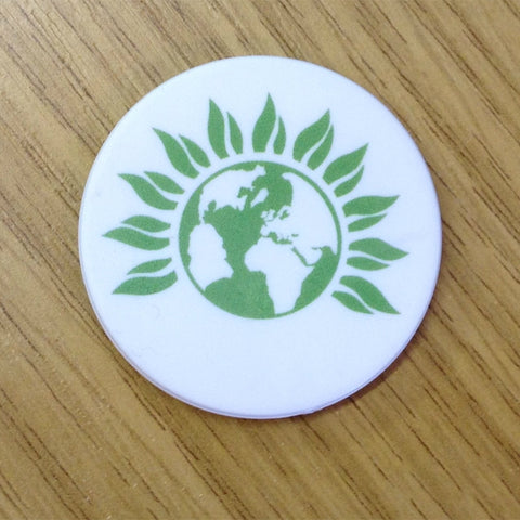 58mm Green Party Badge