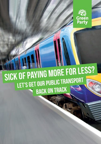 100 x 4pp A5: Let's Get Our Public Transport Back on Track