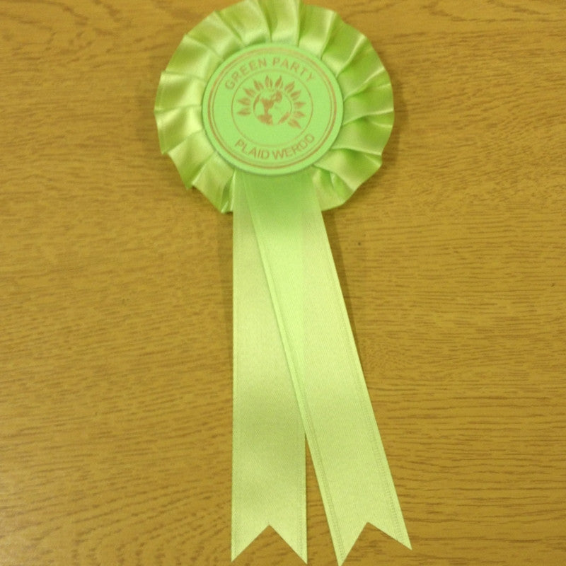 Green Party Rosettes (with English and Welsh)