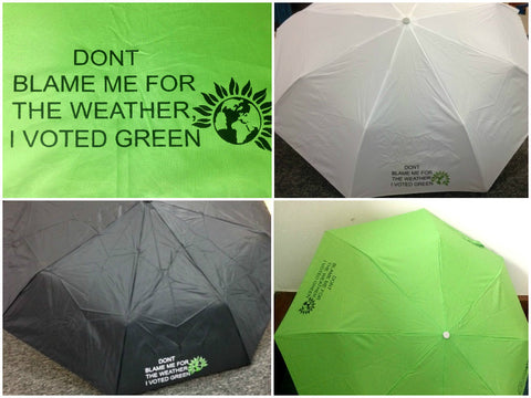 Green Party Umbrella - available in 2 colours