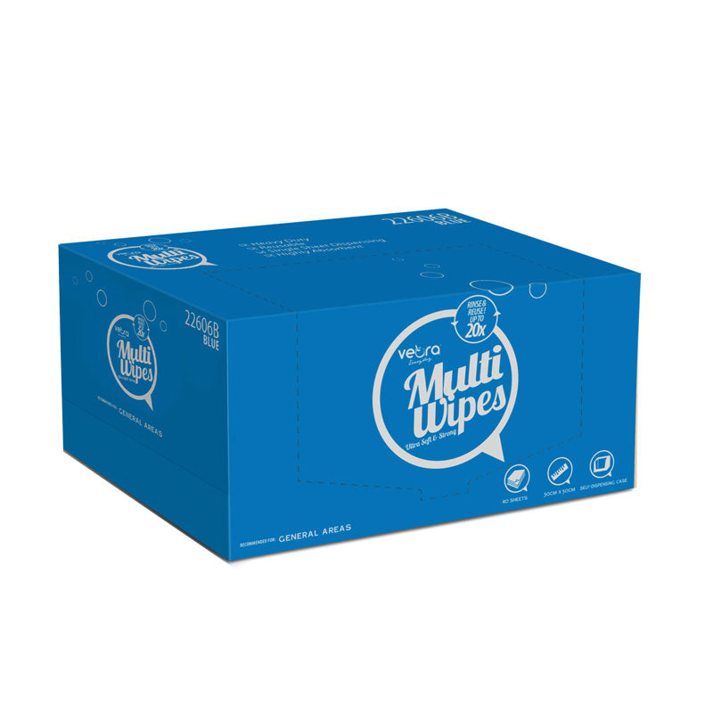 Veora Everyday MultiWipes Self Dispensing Case (SDC) 40 Sheets-Blue