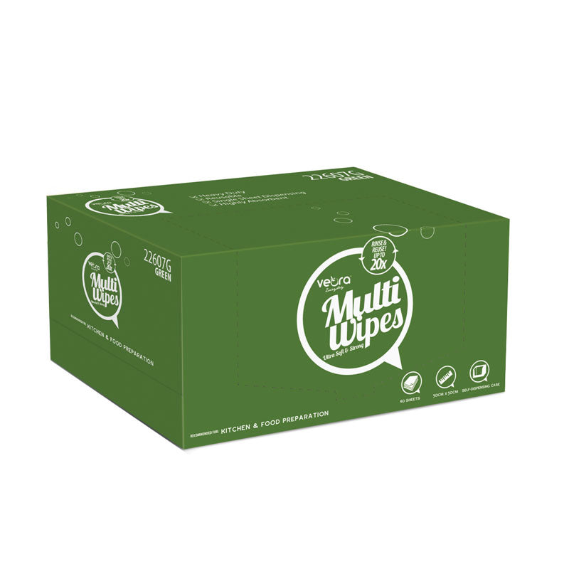 Veora Everyday MultiWipes Self Dispensing Case (SDC) 40 Sheets-Green