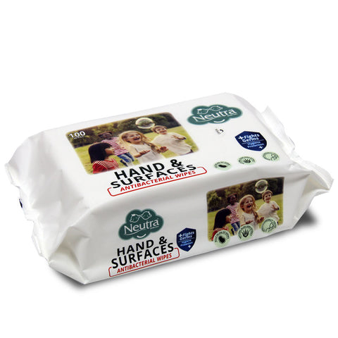 Neutra Hand & Surfaces Antibacterial Wipes 100 Sheets