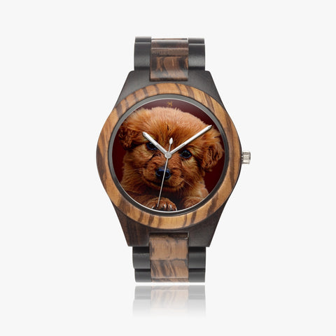 Love Puppy Wooden Watch
